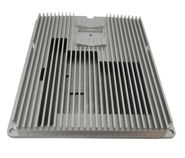 Wireless 5G Box Cover with integral heat sink