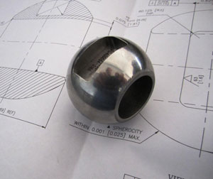 Custom Machining Metal Seated Valvtron Ball
