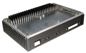Die cast box out of aluminum for an electronic instrument