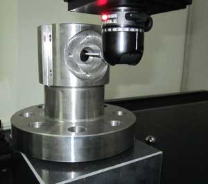 CMM (coordinate measuring machine) contract Manufacturing inspection on a Valvtron ball valve body