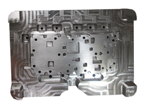 What is die casting Mold showing the inlet, pin-outs and gates