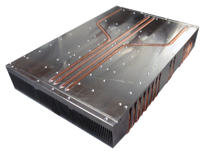 Large Anodized Aluminum Heat Sink with Copper Heat Pipe