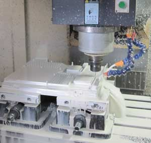 Single Axis Machining center contact manufacturing a die cast body