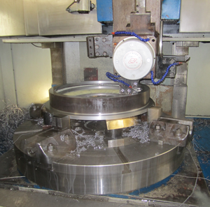 "Contact manufacturing a Valvtron valve seat machining on a 120"" Vertical Turret Lathe"