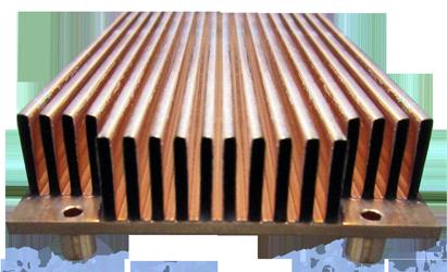 Copper Folded Fin Heat Sink