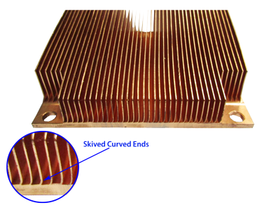 Copper Skived Heat Sink