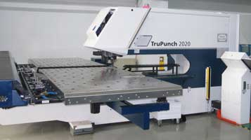 CNC sheet metal Turret Punch press in sheet metal fabrication process